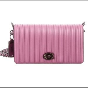 COACH Quilted Leather Dinky Clutch in Primrose